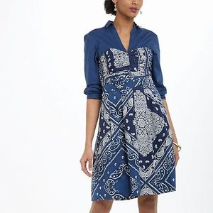 Anthropologie Holding Horses Bandana Shirt dress 6